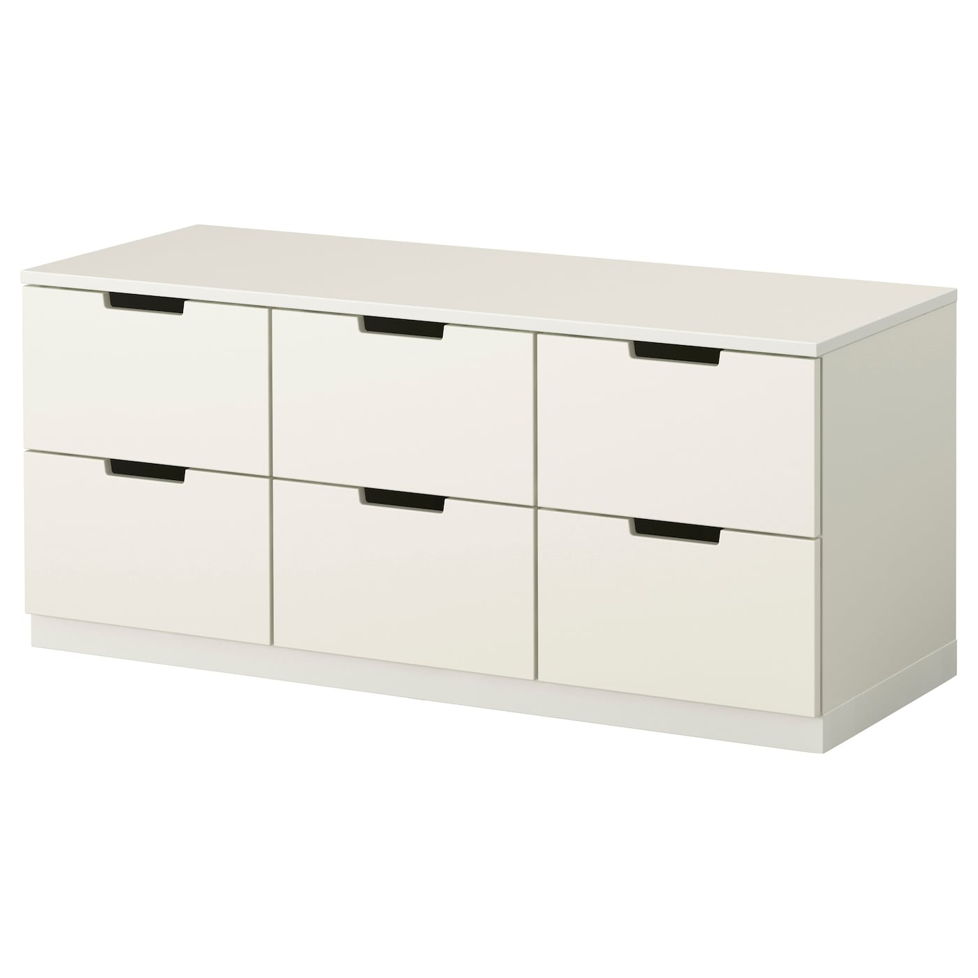 Nordli chest of 6 drawers white 120x52 cm ikea for Sideboard 1m