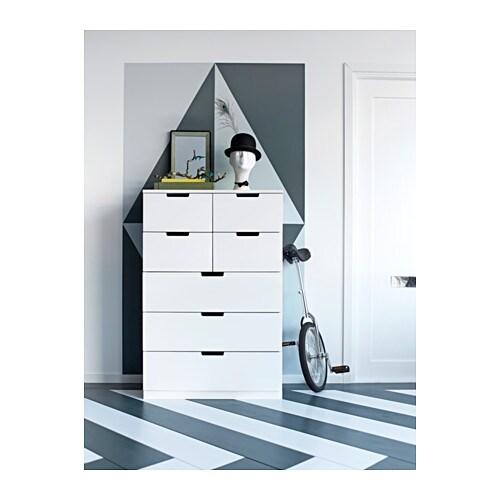 Ikea Drehstuhl Markus Erfahrung ~ NORDLI Chest of 7 drawers White 80×120 cm  IKEA