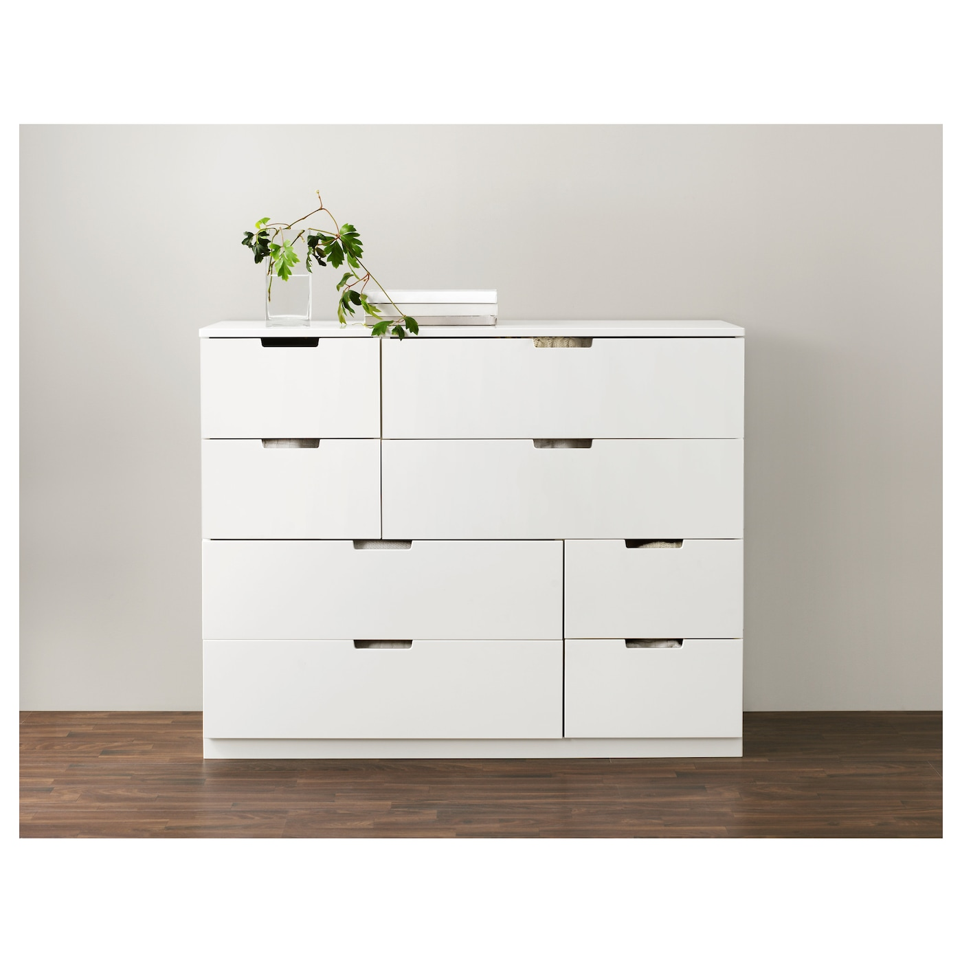nordli chest of 8 drawers white 120x97 cm ikea. Black Bedroom Furniture Sets. Home Design Ideas