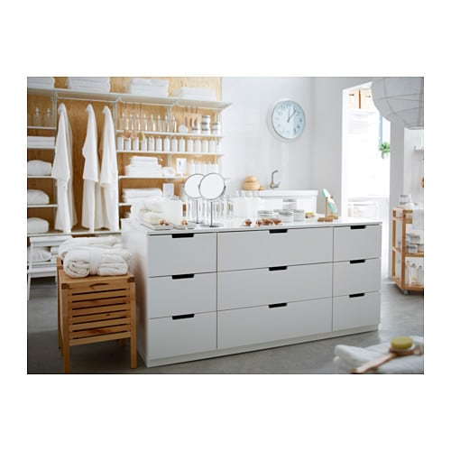 nordli chest of 9 drawers white 160x75 cm ikea. Black Bedroom Furniture Sets. Home Design Ideas