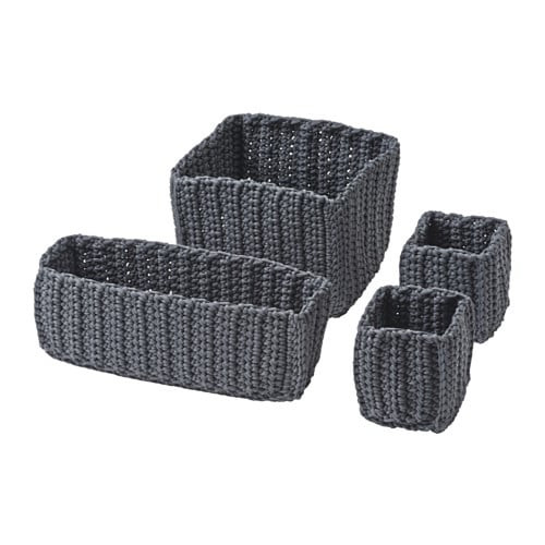 IKEA NORDRANA basket, set of 4 Each basket is unique since they are handmade.