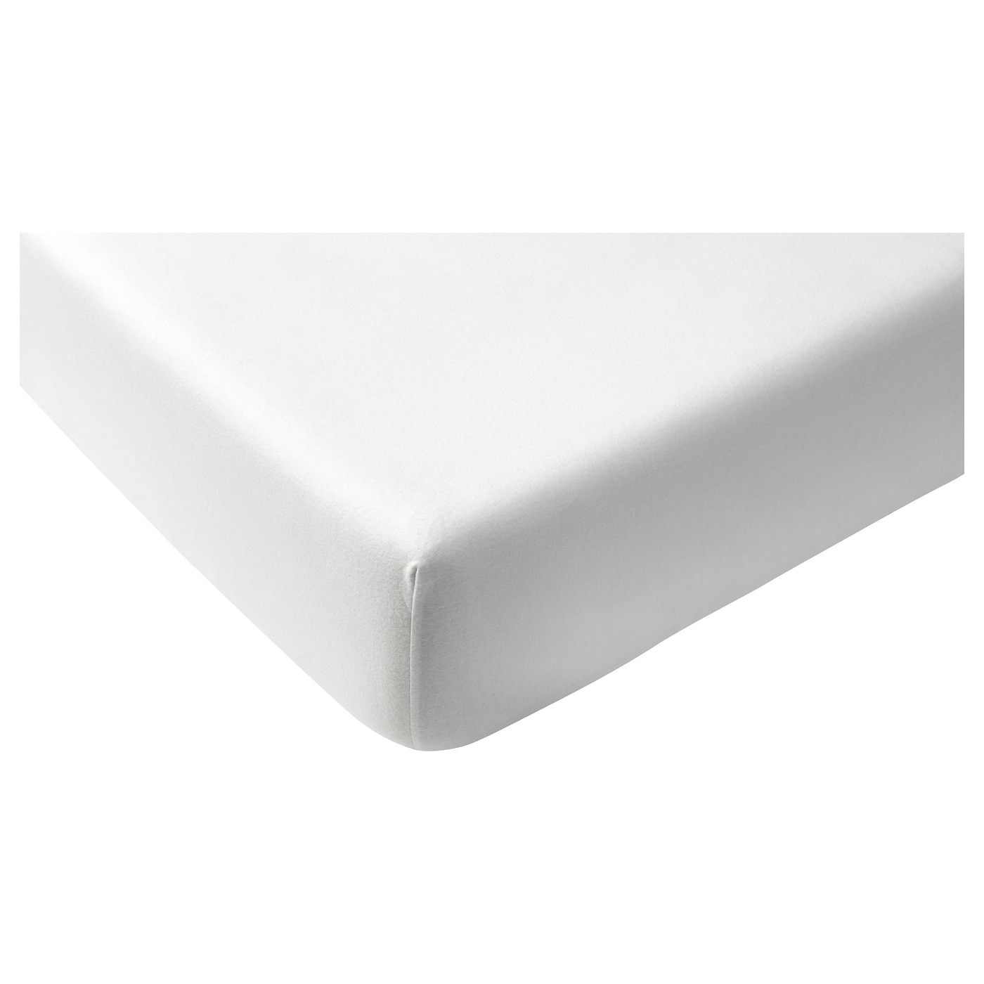 IKEA NORDRUTA fitted sheet Cotton, feels soft and nice against your skin.