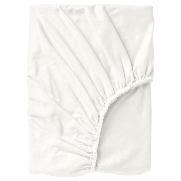 NORDRUTA Fitted sheet, white, Super king