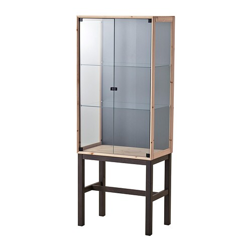 IKEA NORNÄS glass-door cabinet with 2 doors Optimise your storage with BRANÄS or DRÖNA boxes.