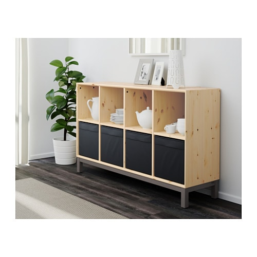 Norn s sideboard basic unit pine grey ikea - Meuble bas tele ikea ...