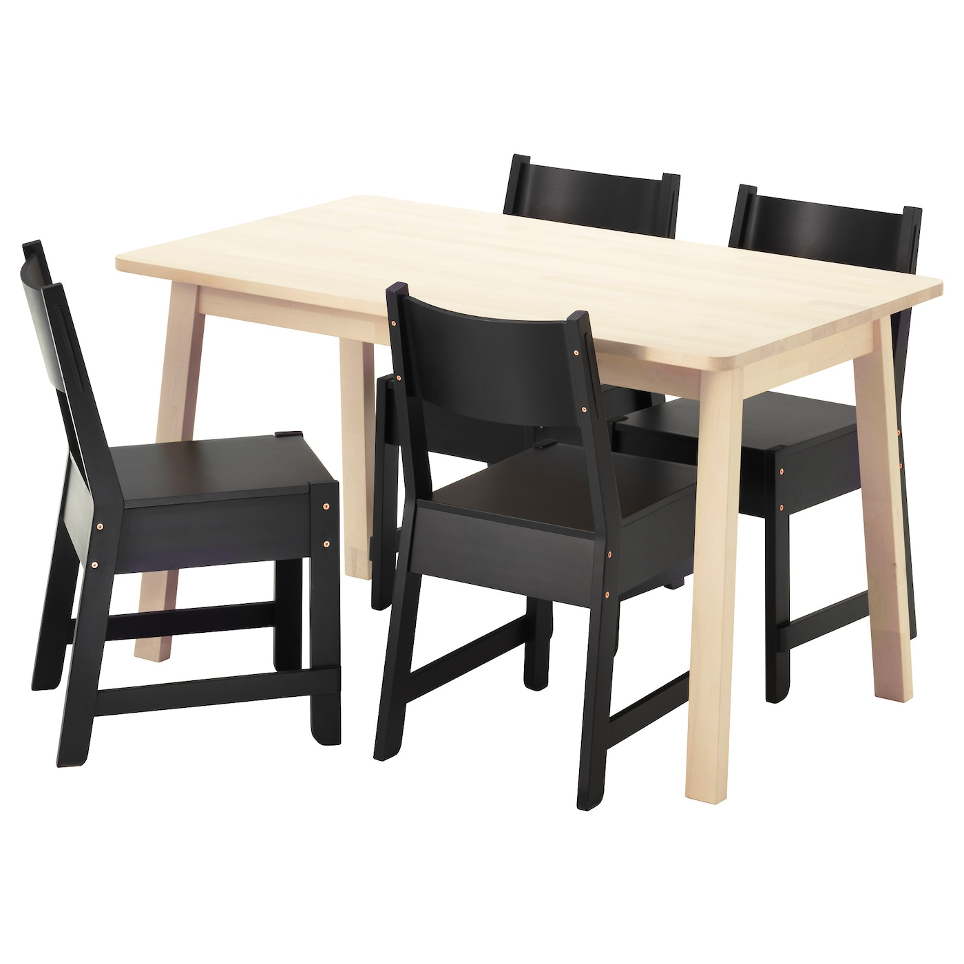 Dining Sets Up to 4 Seats IKEA Ireland : norrC3A5ker norrC3A5ker table and 4 chairs white birch black0447349pe597195s5 from www.ikea.com size 2000 x 2000 jpeg 260kB