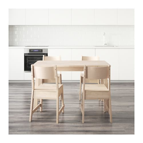 norr ker norr ker table and 4 chairs white birch white