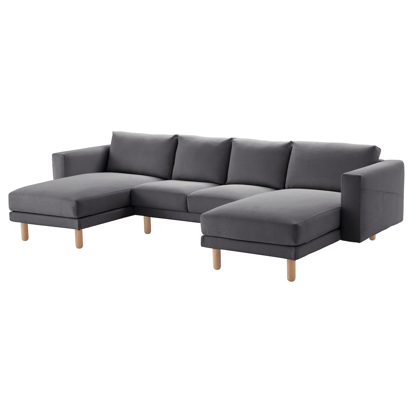 Norsborg 2 seat sofa with 2 chaise longues finnsta dark for Chaise longue tissu