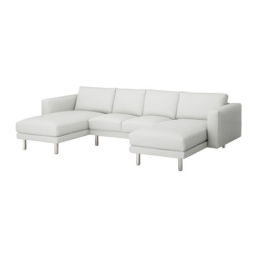 NORSBORG 4 seat sofa With chaise longues finnsta white metal IKEA