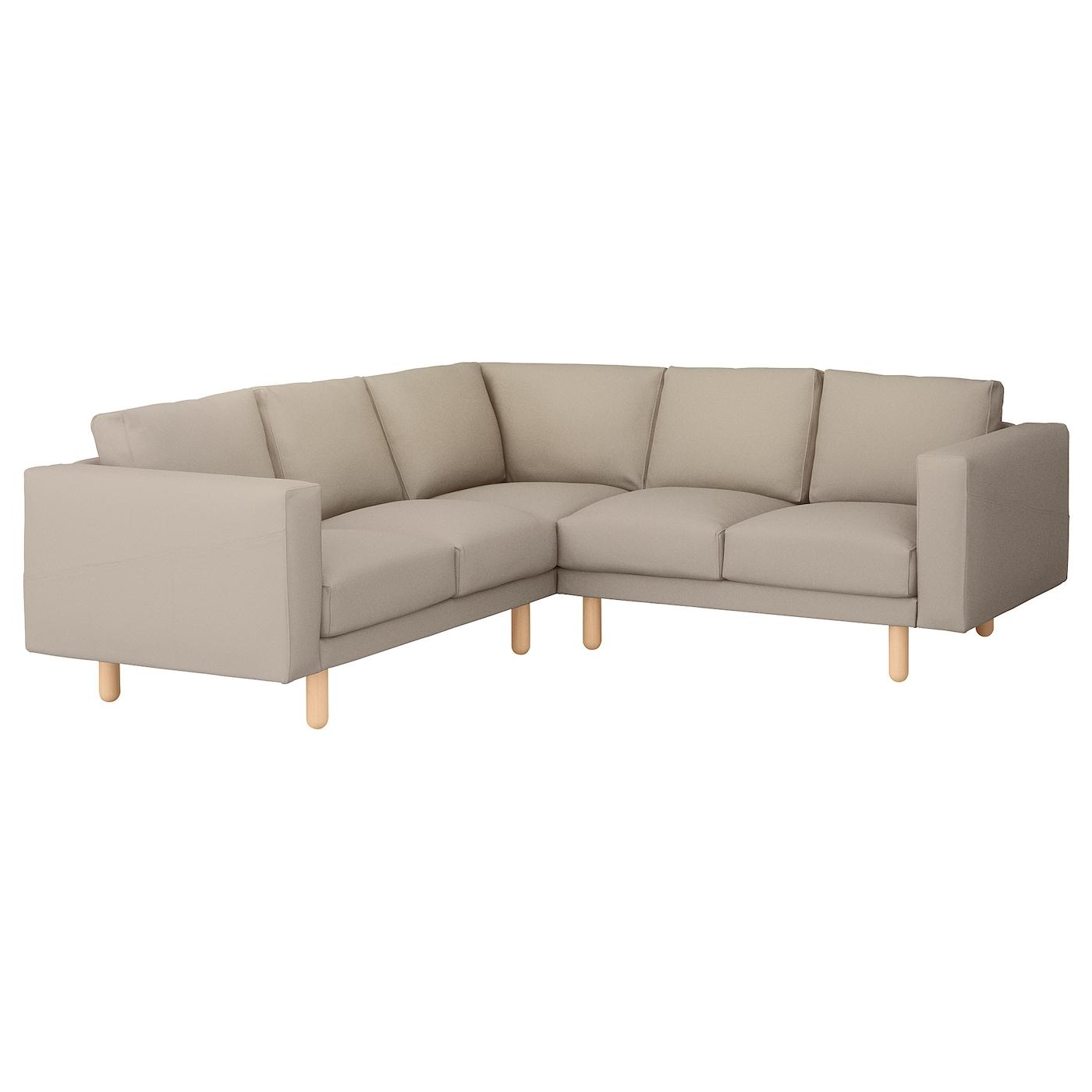NORSBORG Corner sofa 2 2 cover Gräsbo beige IKEA
