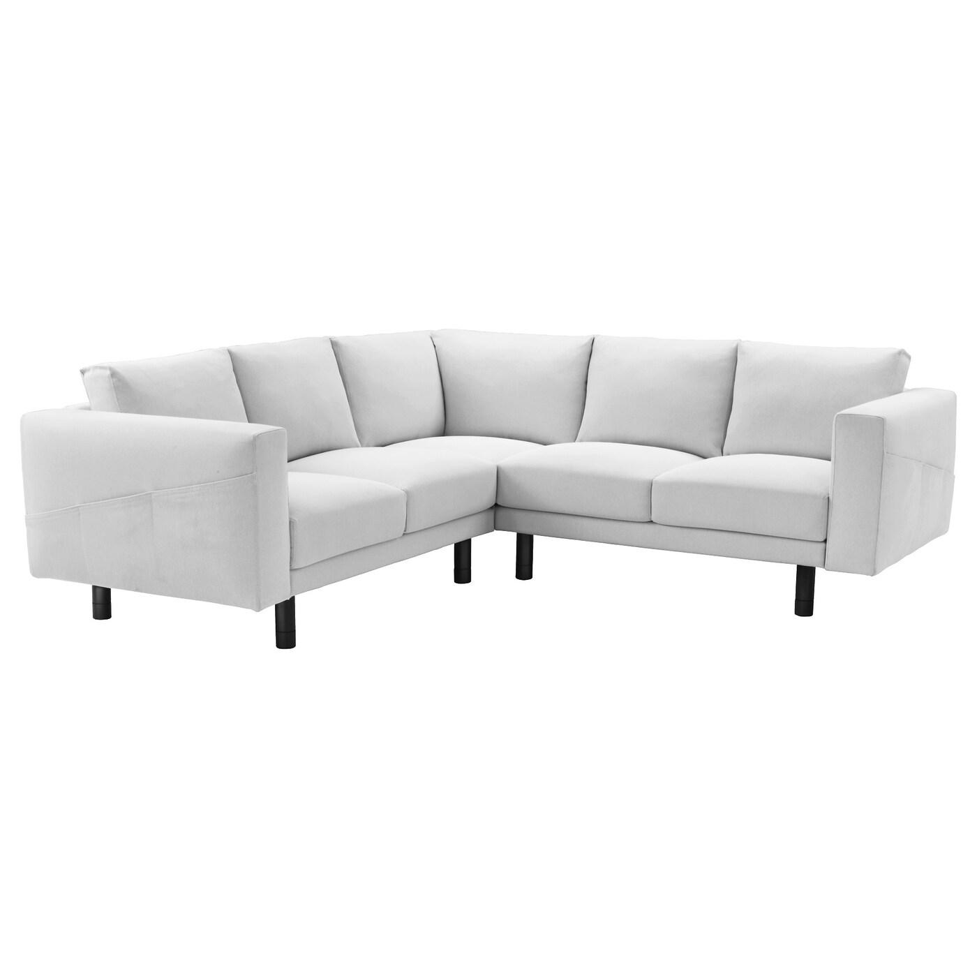 Norsborg Corner Sofa 2 2 Finnsta White Grey Ikea