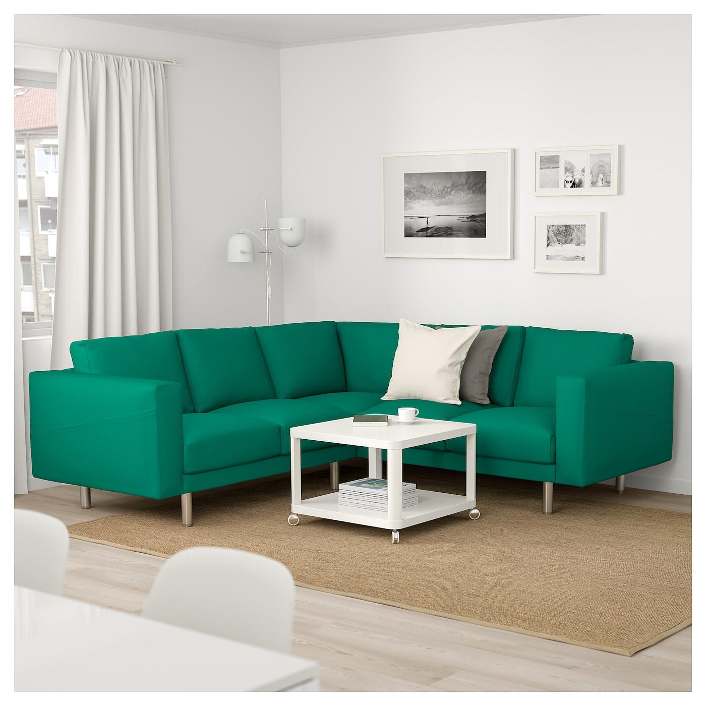 Norsborg corner sofa 4 seat grasbo bright green metal ikea for Amazing bright green sofa