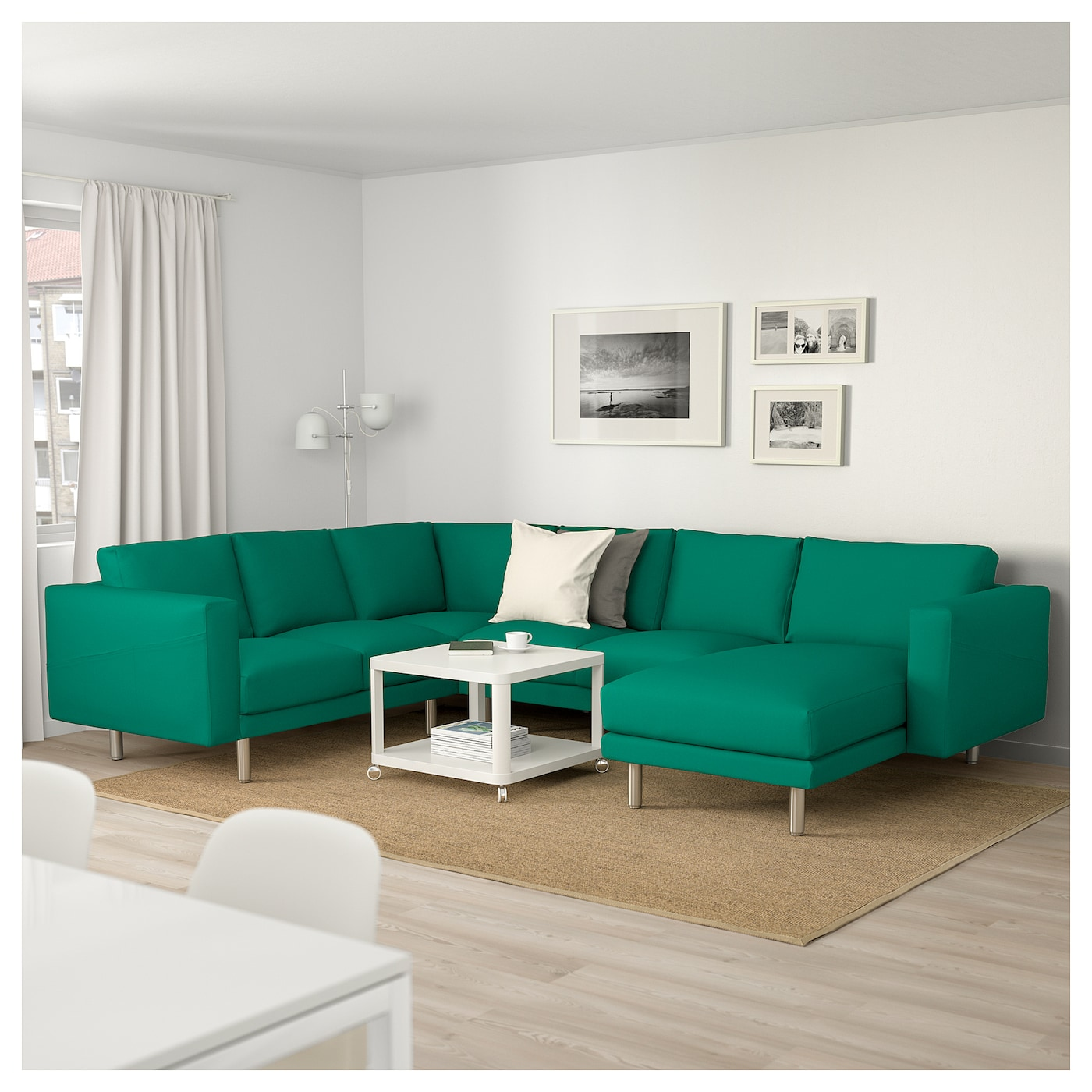 Norsborg corner sofa 5 seat with chaise longue gr sbo for 5 seater sofa with chaise