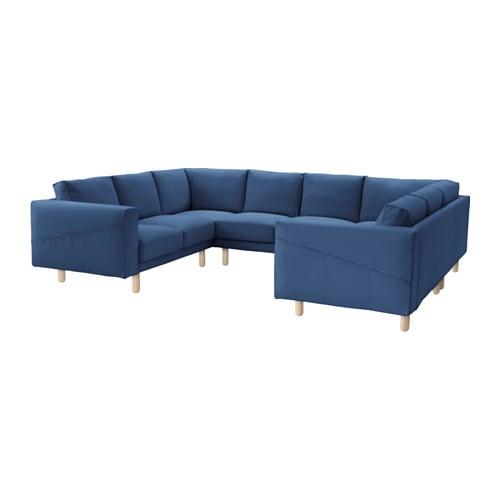 norsborg cover 8 seat sofa u shaped gräsbo dark blue pe s4