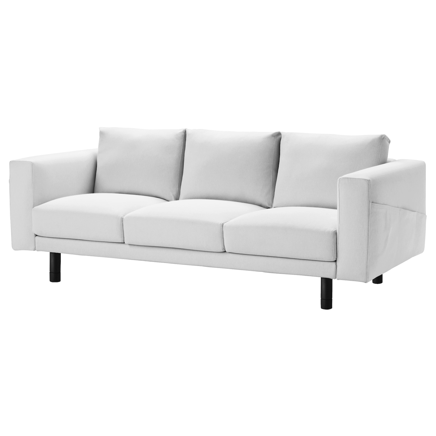 norsborg three seat sofa finnsta white grey ikea. Black Bedroom Furniture Sets. Home Design Ideas