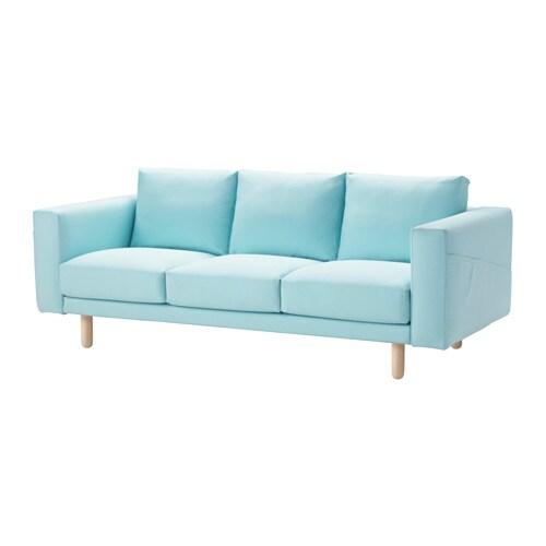 NORSBORG Three seat Sofa Grsbo Light Bluebirch IKEA