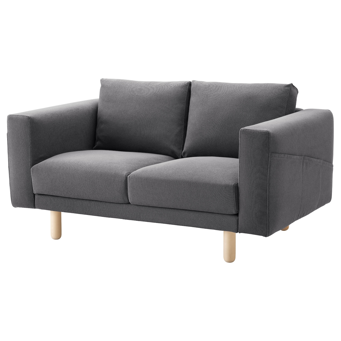 NORSBORG Two-seat sofa Finnsta dark grey/birch - IKEA