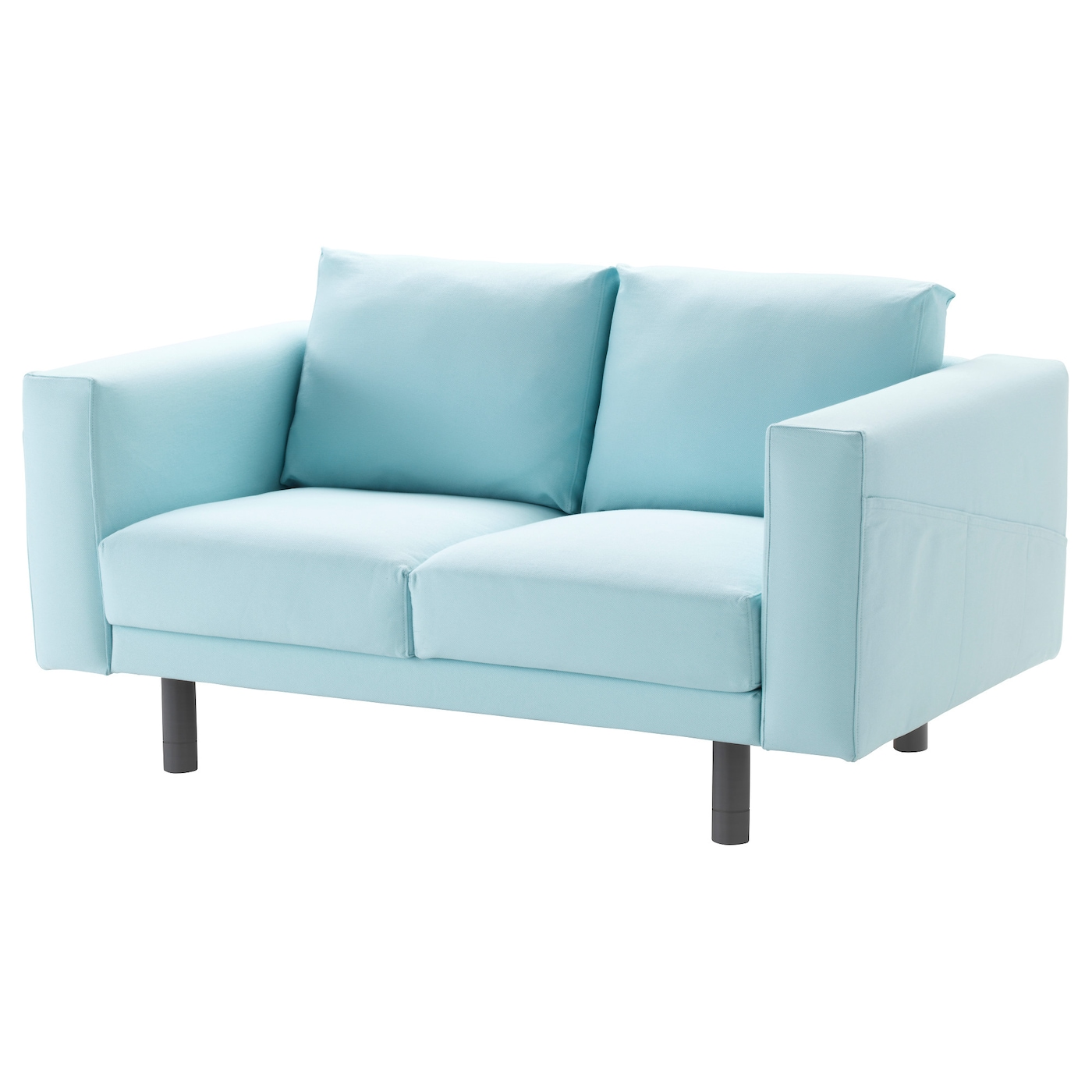 Norsborg two seat sofa gr sbo light blue grey ikea for Blue grey sofa