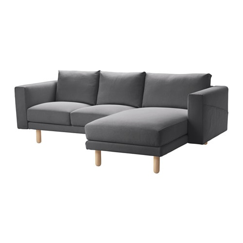 norsborg two seat sofa with chaise longue finnsta dark grey birch pe s4