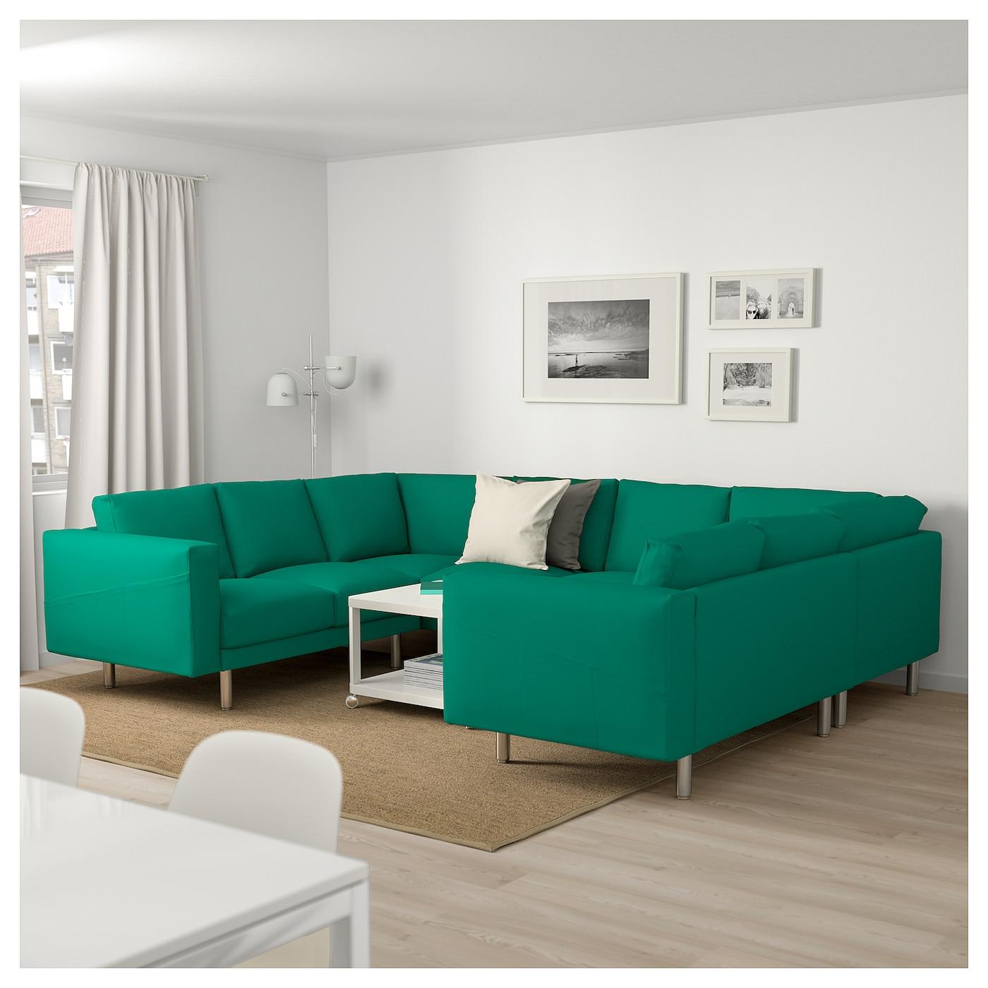 IKEA NORSBORG U-shaped Sofa, 6 Seat