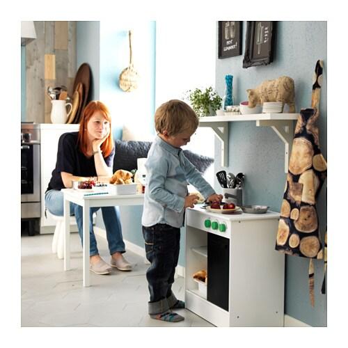 NYBAKAD Play kitchen White 49x30x50 cm  IKEA -> Kuchnia Ikea Dla Dzieci Opinie