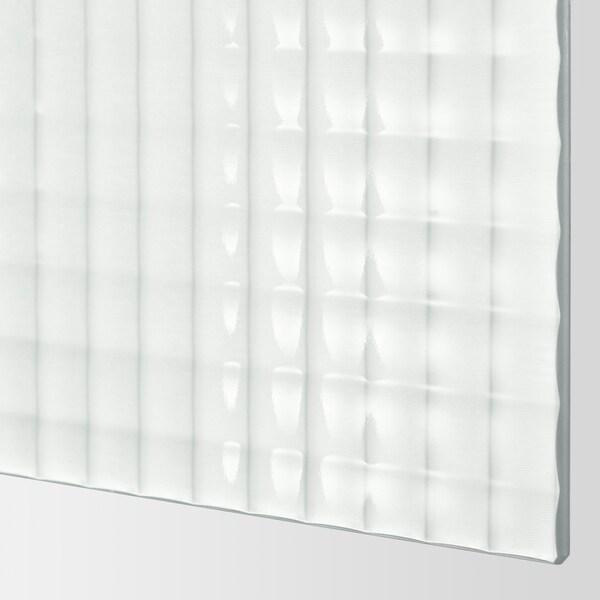 NYKIRKE 4 panels for sliding door frame frosted glass, check pattern  100 cm 236 cm 0.4 cm