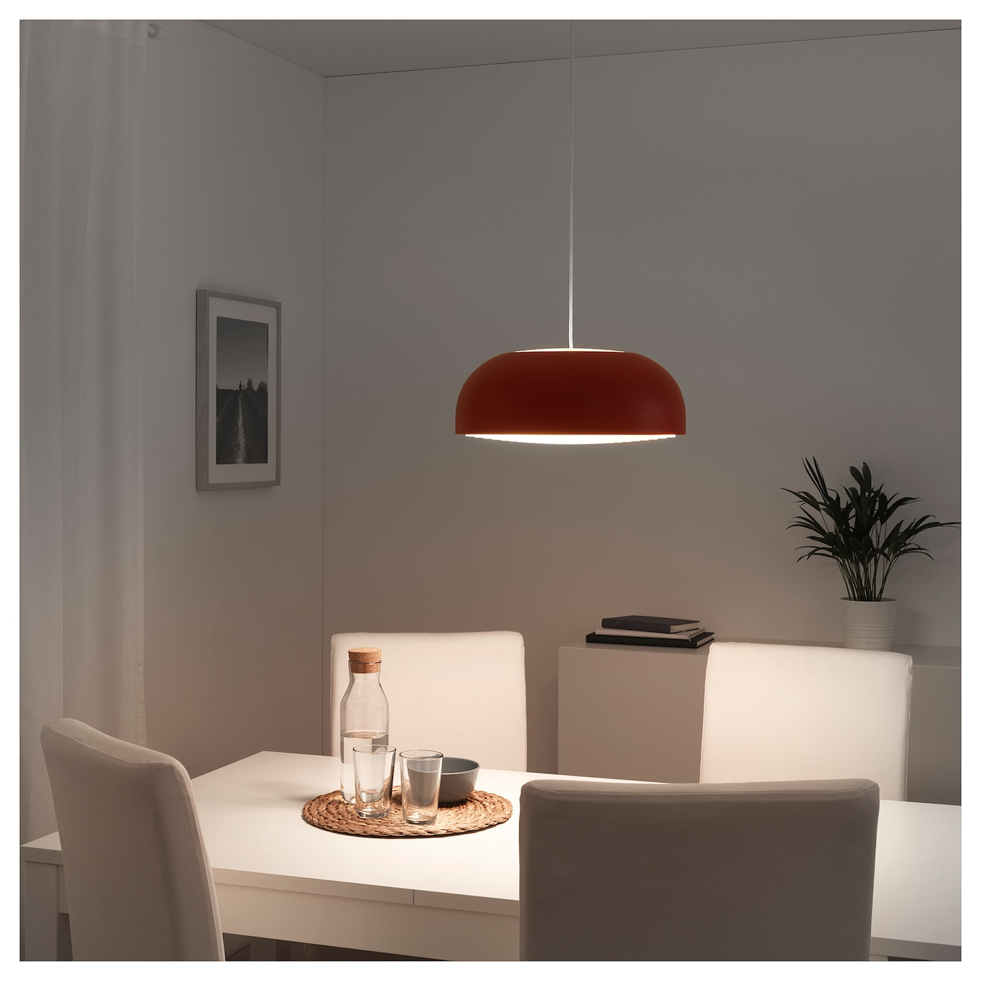 Ikea Red Chandelier: NYMÅNE Pendant Lamp Red