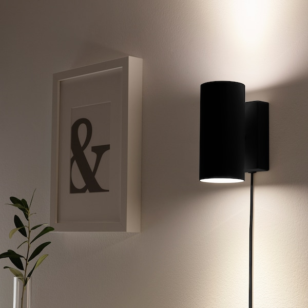 NYMÅNE Wall up/downlighter, wired-in, anthracite