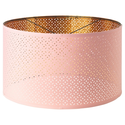 NYMÖ Lamp shade, pink/brass-colour, 59 cm