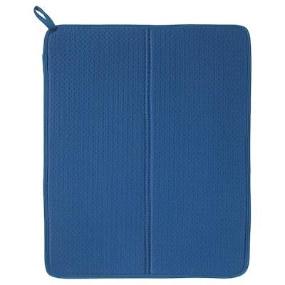NYSKÖLJD Dish drying mat, blue, 44x36 cm