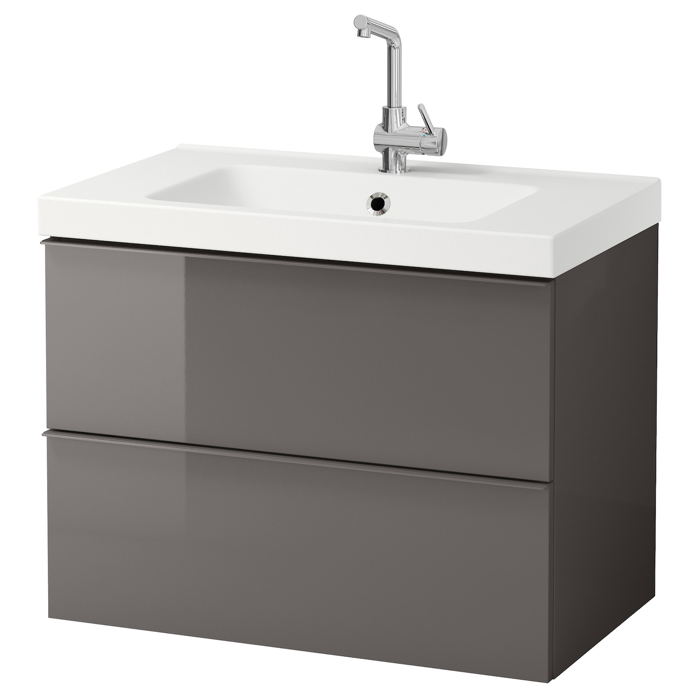 bathroom sink units ikea odensvik godmorgon wash stand with 2 drawers high gloss 16596