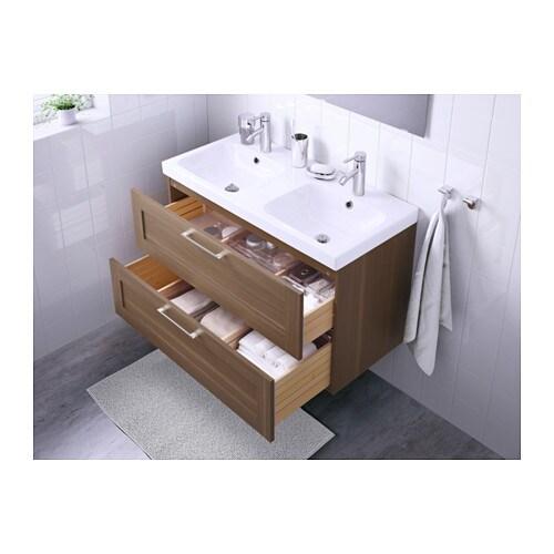 odensvik/godmorgon wash-stand with 2 drawers walnut effect ... - Ikea Bagno Godmorgon