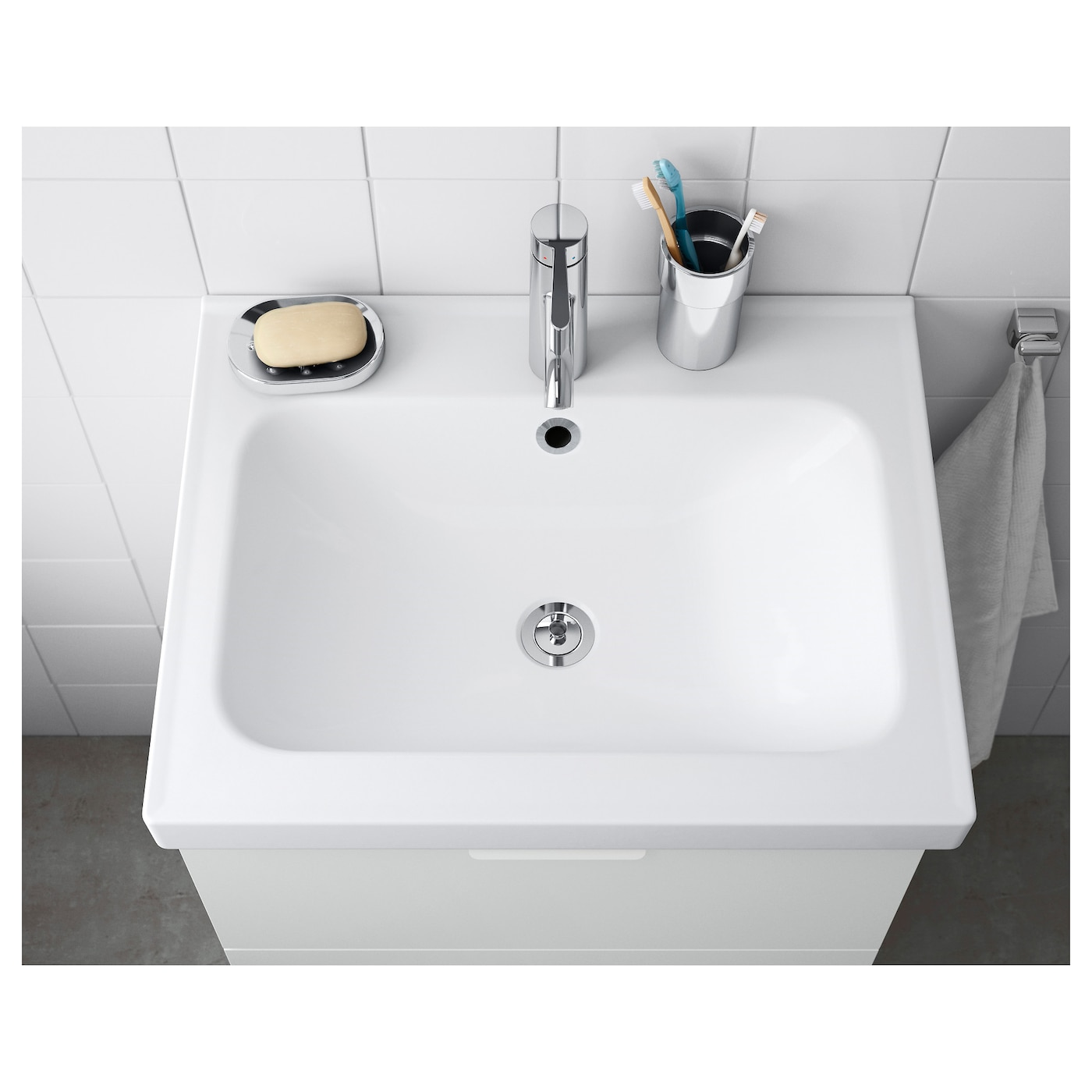 Odensvik single wash basin 60x49x6 cm ikea for Ikea lavabo