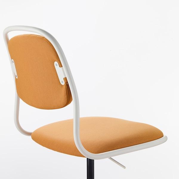 ÖrfjÄll swivel chair  white vissle dark yellow  ikea