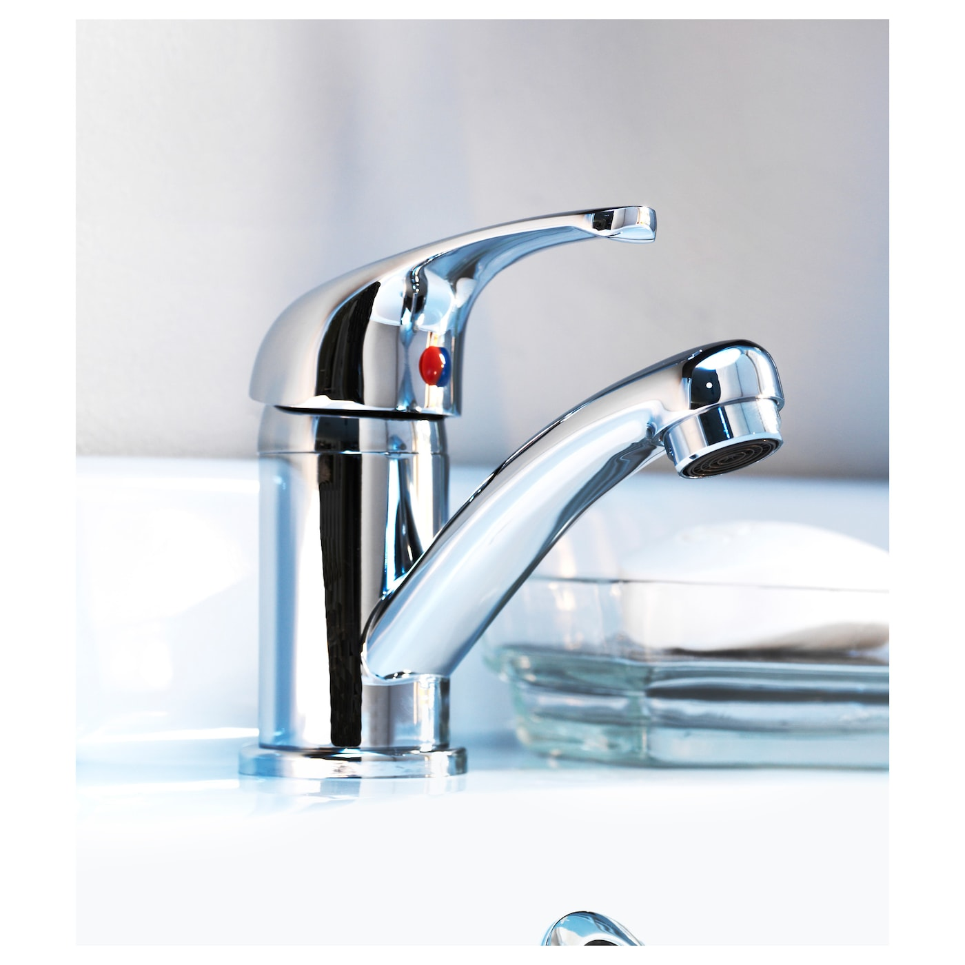 IKEA OLSKÄR wash-basin mixer tap 10 year guarantee. Read about the terms in the guarantee brochure.