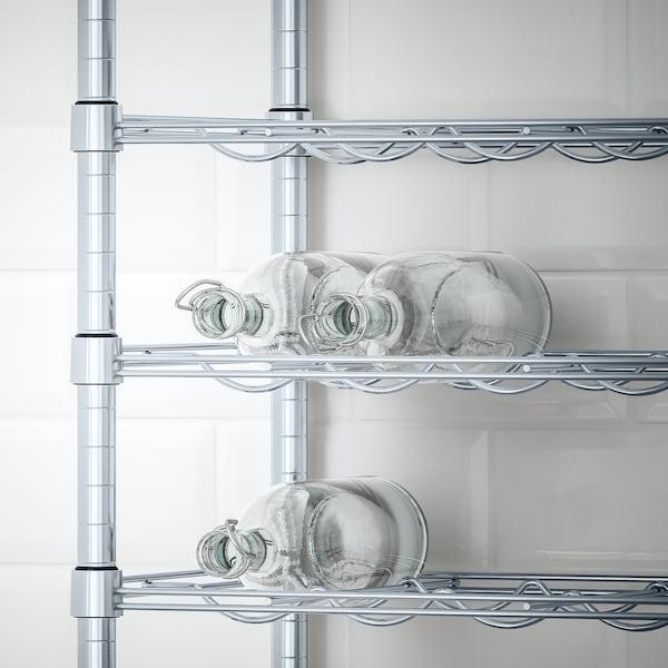 OMAR bottle shelf galvanised 46 cm 36 cm 94 cm