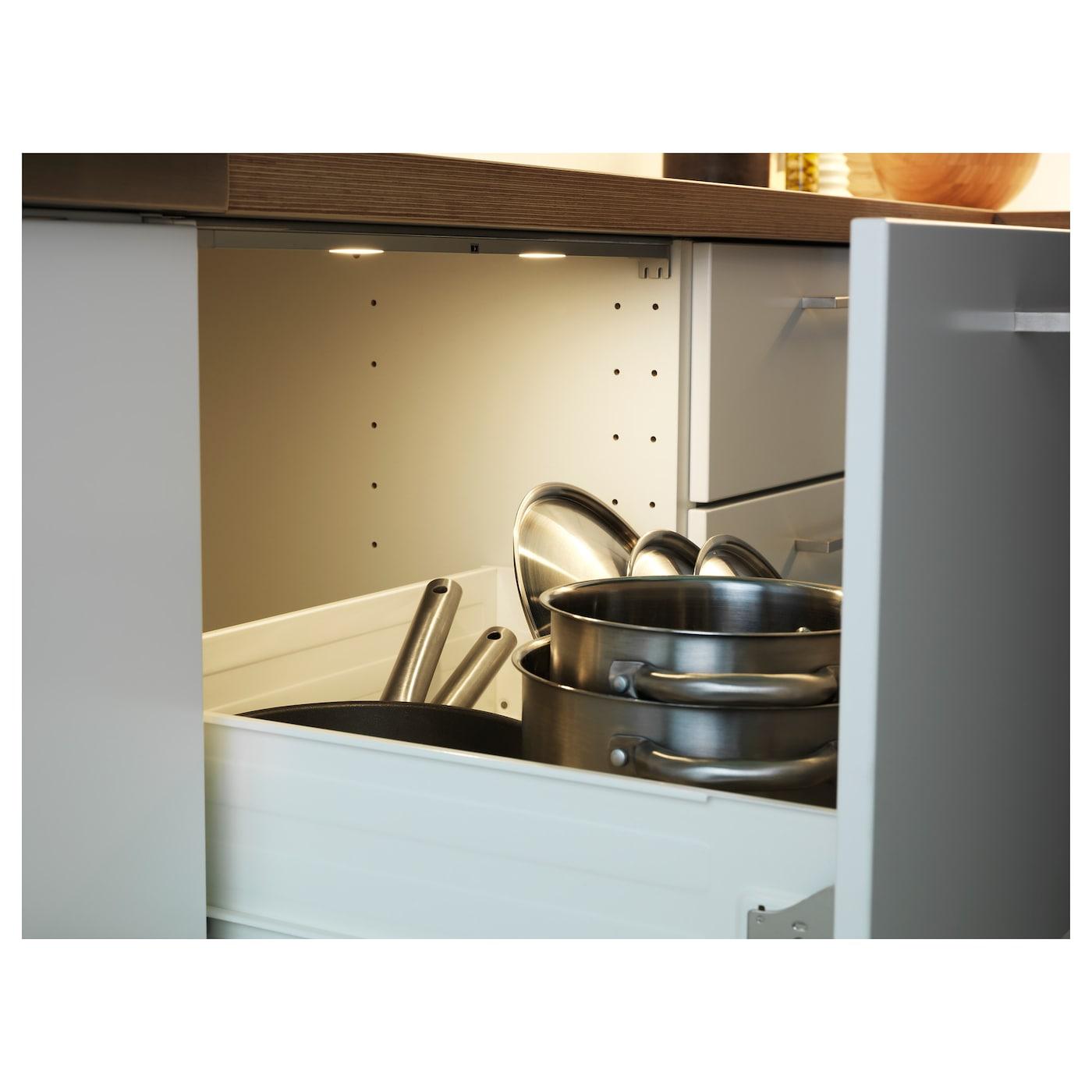 omlopp led lighting strip for drawers aluminium colour 36 cm ikea. Black Bedroom Furniture Sets. Home Design Ideas