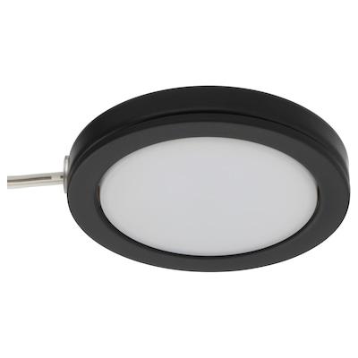 OMLOPP LED spotlight, black, 6.8 cm