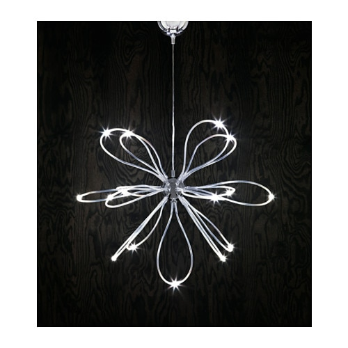 ONSJÖ LED chandelier Chrome-plated - IKEA
