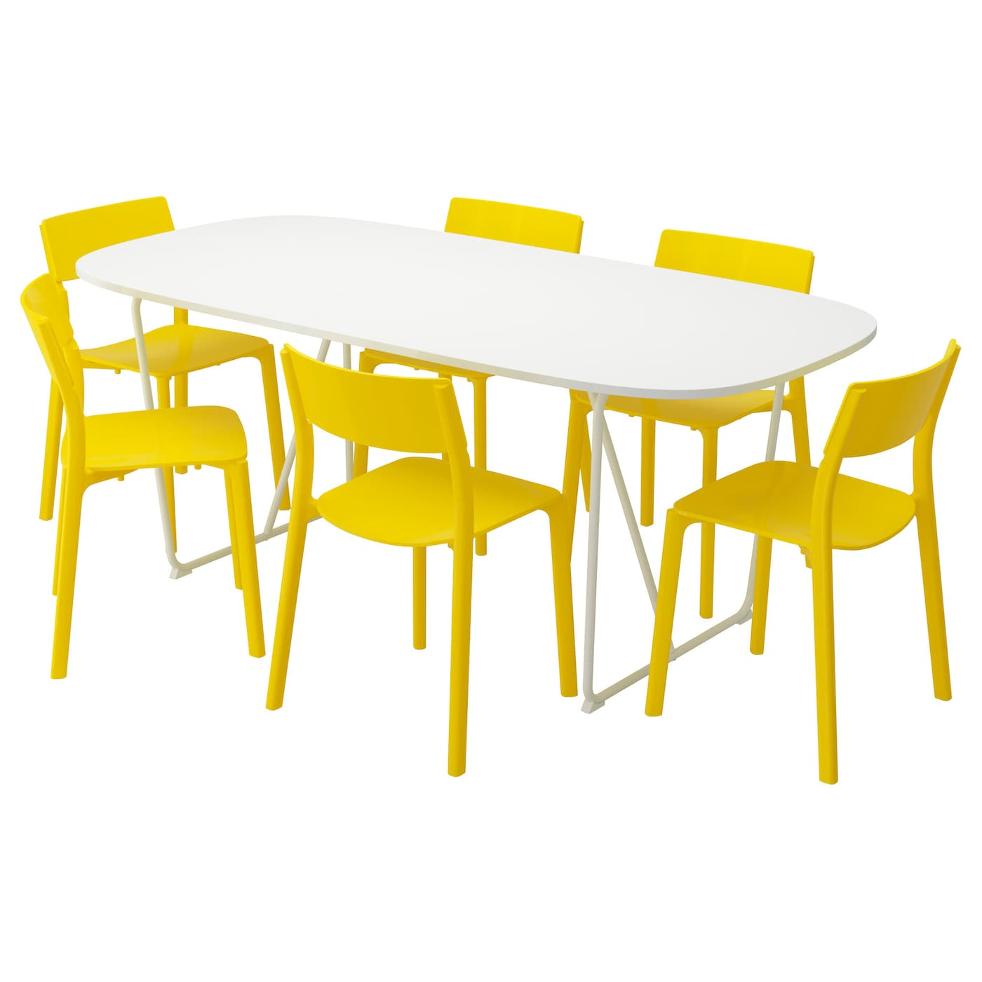 IKEA OPPEBY/BACKARYD/JANINGE table and 6 chairs