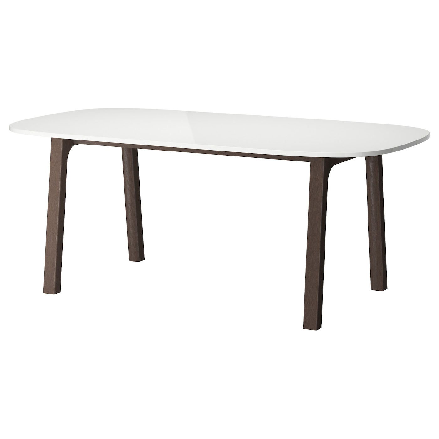 Oppeby table white v stan dark brown 185x90 cm ikea - Table basse escamotable ikea ...