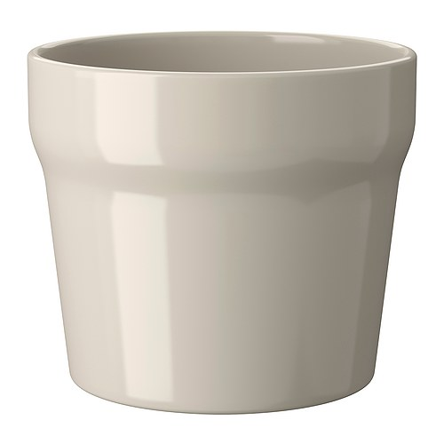 IKEA ORÄDD plant pot Glazed interior; makes the plant pot waterproof.