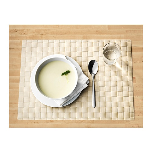 IKEA ORDENTLIG place mat Protects the table top surface and reduces noise from plates and cutlery.