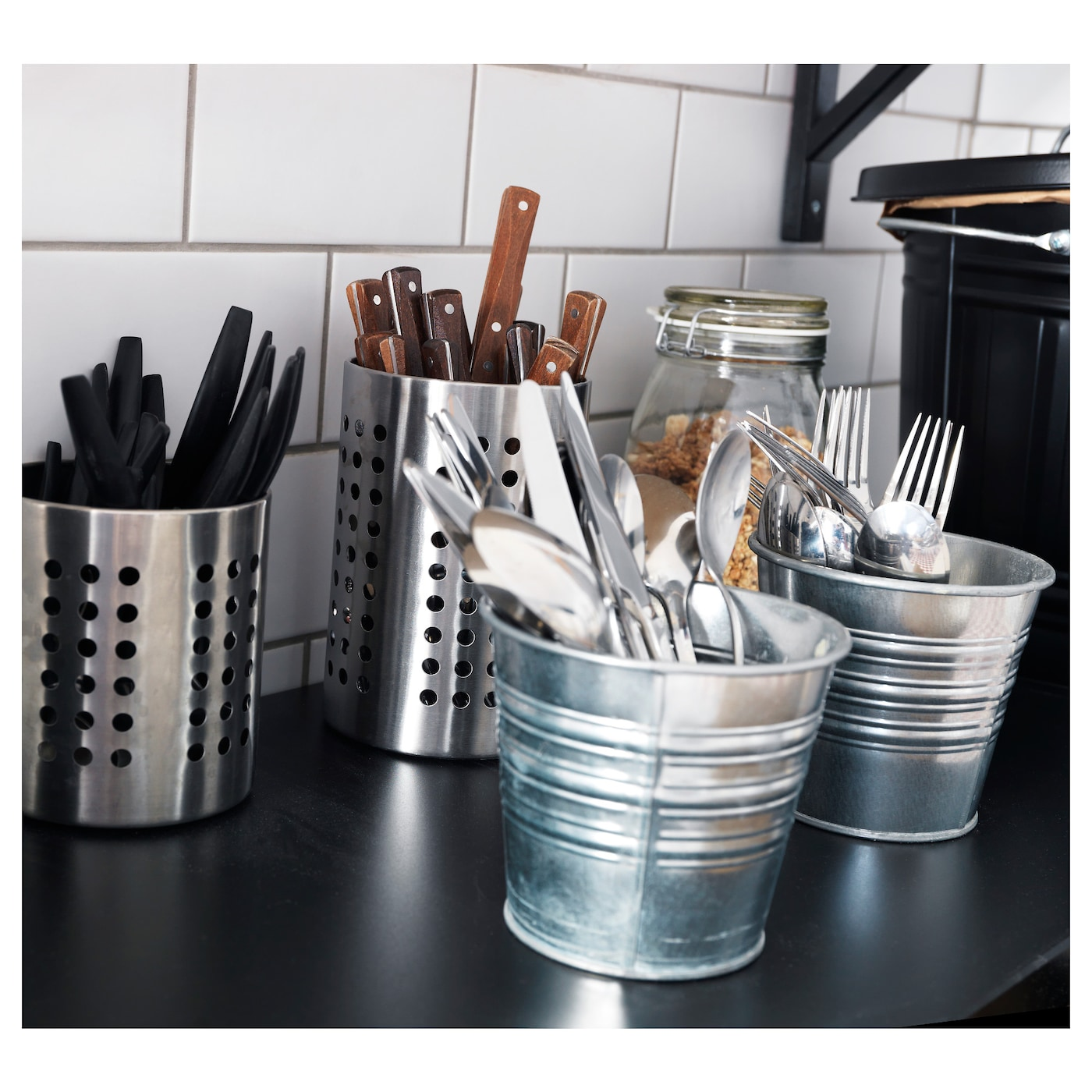 Ordning Cutlery Stand Stainless Steel 13 5 Cm Ikea