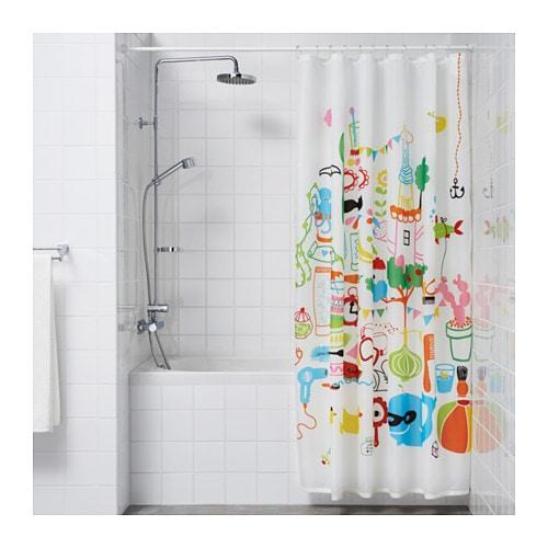 ORE Shower Curtain Rod White 110 200 Cm IKEA
