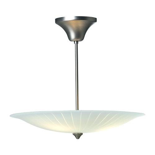 ORNÄS Ceiling lamp IKEA The glass shade spreads an even, general light throughout the room, which helps you to see clearly and move about safely.