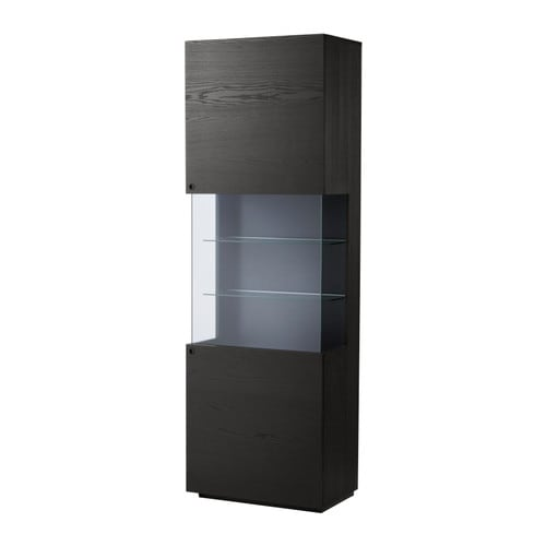 Orrberg Glass Door Cabinet Black Brown Ikea