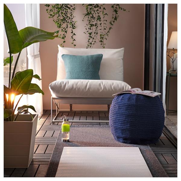 OTTERÖN pouffe cover, in/outdoor blue 41 cm 48 cm