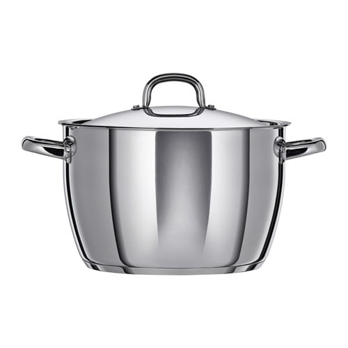 IKEA OUMBÄRLIG stockpot with lid Works well on all types of hobs, including induction hob.