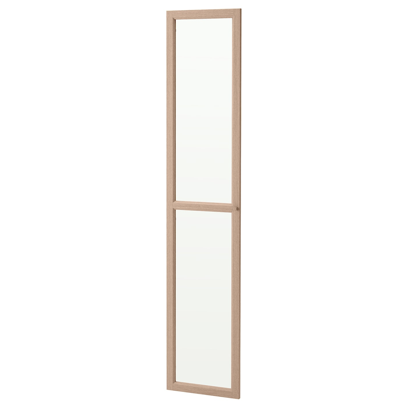 IKEA OXBERG glass door Adjustable hinges allow you to adjust the door horizontally and vertically.